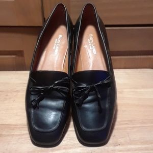 Ralph Lauren Black Leather Flats
